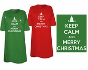 SALE! Keep Calm and Merry Christmas Plus Size & Supersize T-Shirts 3xl