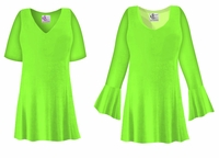 CLEARANCE! Lime Green Slinky Plus Size & Supersize Shirt 3x 4x