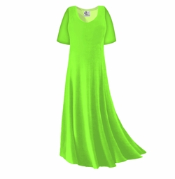 CLEARANCE! Lime Green Slinky Plus Size & Supersize Sleeve Dress 5x