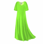 SOLD OUT! CLEARANCE! Lime Green Slinky Plus Size & Supersize Sleeve Dress 5x