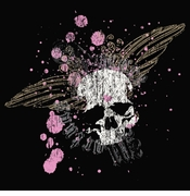FINAL SALE! Love And Death Pink Splatter Skull Plus Size & Supersize T-Shirts 5xl