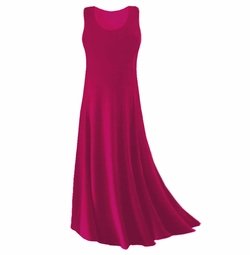 CLEARANCE! Magenta Slinky Plus Size & Supersize Tank Dress 0x 3x