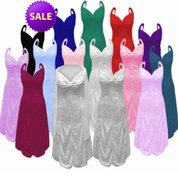 SALE! Many Colors! 2 Piece Princess Seam Dress Set: Beautiful Crush Velvet Plus Size & Supersize Large 1x 2x 4x 6x