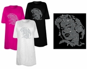 SALE! Marilyn Monroe Portrait Sparkly Rhinestuds Plus Size & Supersize T-Shirts 5x Supersize