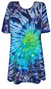 CLEARANCE! Midnight Aurora Tie Dye Plus Size & Supersize X-Long T-Shirt 2x 6x