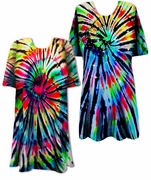 CLEARANCE! Midnight Prism Tie Dye Plus Size & Supersize X-Long T-Shirt 2x 4x