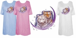 FINAL SALE! Tiger Moon Plus Size & Supersize T-Shirts (Lights Only) 2x