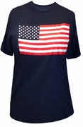 FINAL SALE! Just Reduced! Navy Blue American Flag Patriotic USA Plus Size T-Shirt 2XL*******