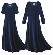 SOLD OUT! CLEARANCE! Navy Blue Slinky Plus Size & Supersize Sleeve Dress 1x