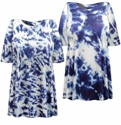 SALE! Blue Seas Tie Dye Plus Size T-Shirt XL 2x 3x 4x 5x 6x