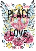 SALE! Peace & Love  Plus Size & Supersize T-Shirts S M L XL 2xl 3xl 4x 5x 6x 7x 8x (Most Colors)