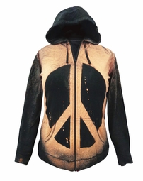 SALE! Peace Sign Tie Dye Plus Size Hoodie + Add Rhinestones 4x