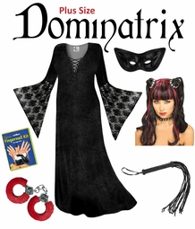 SALE! Plus Size Dominatrix Halloween Costume Lg XL 1x 2x 3x 4x 5x 6x 7x 8x 9x