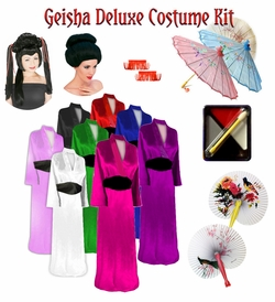 SALE! Beautiful Solid Color Geisha Costume Plus Size & Supersize 0x to 9x