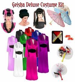 SALE! Beautiful Solid Color Geisha Costume Plus Size & Supersize 0x 1x 2x 3x 4x 5x 6x 7x 8x 9x