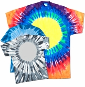 SALE! Plus Size Short Sleeve Circle Tie Dye T-Shirts XL 2x 3x 4x 5x 6x