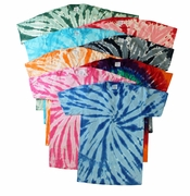 SALE! Plus Size Short Sleeve Burst Tie Dye T-Shirts XL 2x 3x 4x 5x 6x