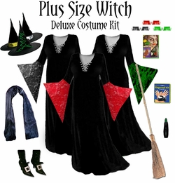 Sale! Plus Size Witch Costume Black or Green - Available in Plus Size & Supersize Lg XL 0x 1x 2x 3x 4x 5x 6x 7x 8x 9x
