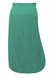 SALE! Solid Color Poly/Cotton Full Length Plus Size Skirts Green 6xT