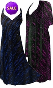 SALE! Pretty Fuschia or Blue Glimmer Streaks Glittery Slinky Plus Size SuperSize Princess Seam Dress Set 1x