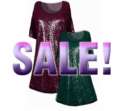 SALE!!!  Pretty  Green or Burgundy Glimmer Print Plus Size & Supersize A-Line  Shirts 3x 4x 5x 6x 7x 8x 9x