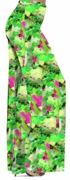 SALE! Pretty Green & Pink Floral Print Slinky Plus Size Palazzo Pants 7x
