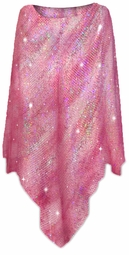 SOLD OUT! Pretty Hot Pink Sequin Sparkly Slinky Print Plus Size Supersize Poncho