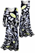 SALE! Pretty Lightweight Black White & Yellow Slinky Plus Size & Supersize A-Line Dresses & Jackets 0x
