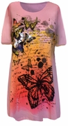 SALE! Pretty Pink Glitzy Butterfly Design Plus Size T-Shirts 1x