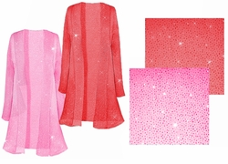 SALE! Pretty Pink or Red Sparking Sheer Plus Size & Supersize Jackets 0x
