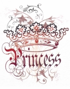 SALE! Pretty Princess Crown Plus Size & Supersize T-Shirts S M L XL 2x 3x 4x 5x 6x 7x 8x (Lights Only)