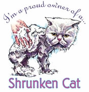 SALE! Proud Owner of a Shrunken Cat! Plus Size & Supersize T-Shirts 4x 5x 6x 7x 8x (Lights Only)