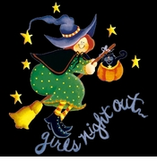 FINAL SALE! Purple or Black Girls Night Out! Halloween Witch Plus Size T-Shirts XL 3XL