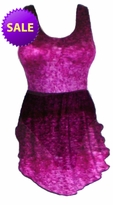 SOLD OUT! Purple Seas Graphic Print Plus Size Swimsuit & Supersize Front Skirted 2pc Swimdress