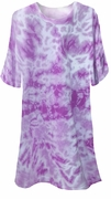 CLEARANCE! Purple Tie Dye Plus Size T-Shirts xl 2xl 3xl 6xl