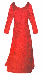 SALE! Red Crush Velvet Plus Size & Supersize Sleeve Dress 3x 7x