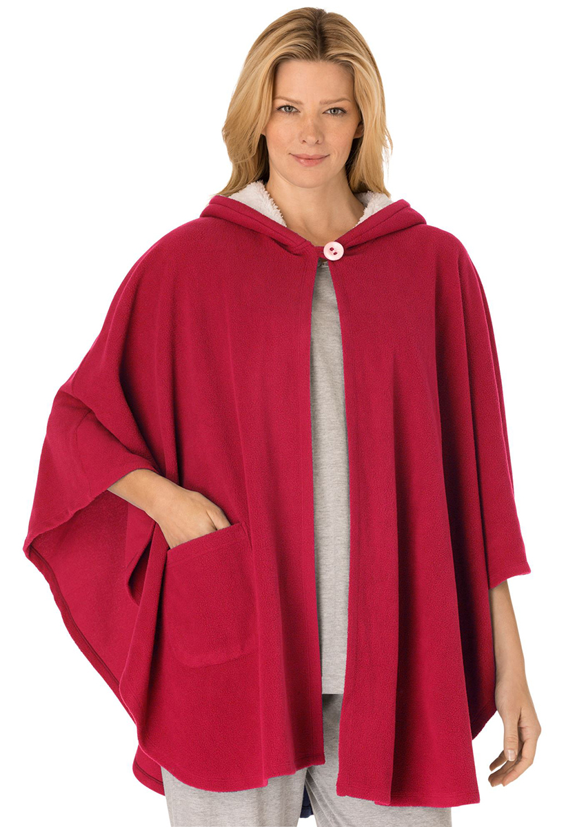 SALE! Red Hooded Cape-Style Microfleece Plus Size Robe 3x 4x