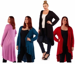 SALE! Red, Plum, Teal, Black, or Lilac Knitted Sweater Coverup Cardigan Plus Size Jackets 4x 5x