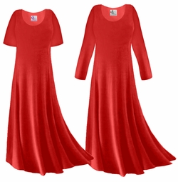 SALE! Red Slinky Plus Size & Supersize Long Sleeve Dress 2x