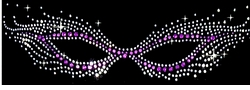 SALE! Rhinestone Mask Plus Size & Supersize T-Shirts S M L XL 2x 3x 4x 5x 6x 7x 8x