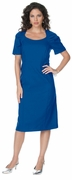 SALE! Royal Blue Cap Sleeve Color Mix Sheath Plus Size Dress 3x/30 4x/32 5x/34