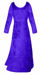 SALE! Royal Blue Crush Velvet Plus Size & Supersize Sleeve Dress 6x