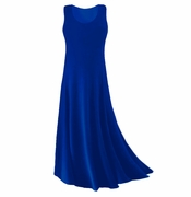 CLEARANCE! Royal Blue Slinky Plus Size & Supersize Tank Dress 0x 1x 3x