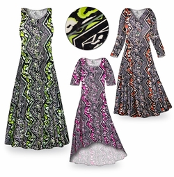 CLEARANCE! Safari Slinky Print Plus Size & Supersize Dresses  1x Pink