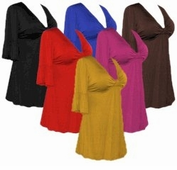 SALE! Sexy Cotton Lycra Sexy Low-Cut Flutter Sleeve Tops Black - Brown - Yellow - Red - Pink - Purple - Royal  0x 1x 2x 3x 4x 5x 6x 7x 8x