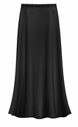 CLEARANCE! Solid Black Color Slinky Plus Size Supersize Skirt XL 1x 2x 3x 4x