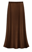 CLEARANCE! Solid Brown Color Slinky Plus Size Supersize Skirt 3x