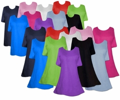 SALE! SOLID COLOR! Plain Plus Size & Supersize T-Shirts S M L XL 2x 3x 4x 5x 6x 7x 8x- Many Colors!! SALE!