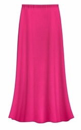 CLEARANCE! Solid Hot Pink Color Slinky Plus Size Supersize Skirt 2x