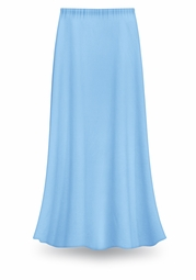 CLEARANCE! Solid Light Blue Color Slinky Plus Size Supersize Skirt 0x